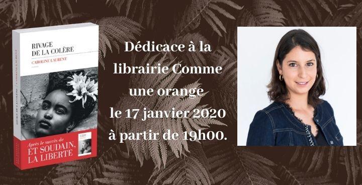 Dédicace : Caroline Laurent à la librairie Comme une orange le 17 janvier