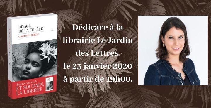 Rencontre et dédicace : Caroline Laurent à la librairie Jardin des lettres à Craponne