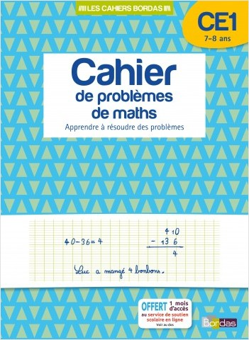 Cahier de problèmes de maths CE1