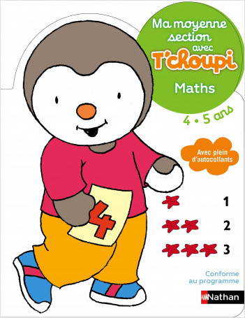 Ma moyenne section avec T'choupi- Maths - Dès 4 ans