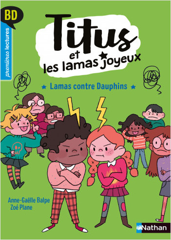 Titus et les lamas joyeux - Lamas contre Dauphins - BD - Première lecture - Niveau 3 - Dès 6 ans