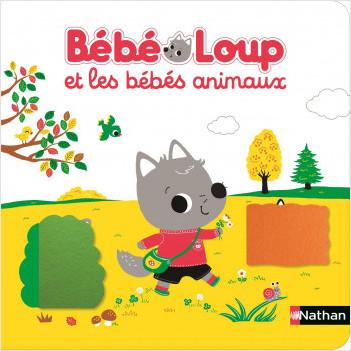 Bébé Loup et les bébés animaux - Livre matière - Dès 6 mois