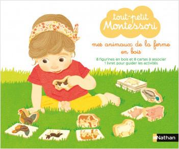 Tout-petit Montessori - Mes Animaux de la ferme en bois - Dès 15 mois