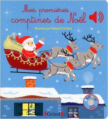 Mes premières comptines de Noël – Livre sonore avec 6 puces – Dès 1 an