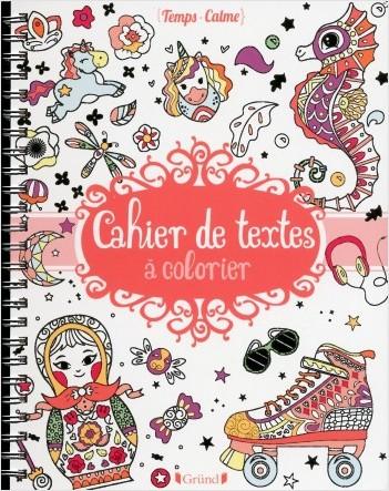 Cahier de texte à colorier