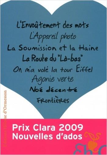 Prix Clara 2009 - Nouvelles d'ados