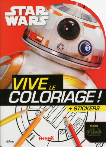 Disney Star Wars - Le Réveil de la Force Ep VII - Vive le coloriage (BB8)