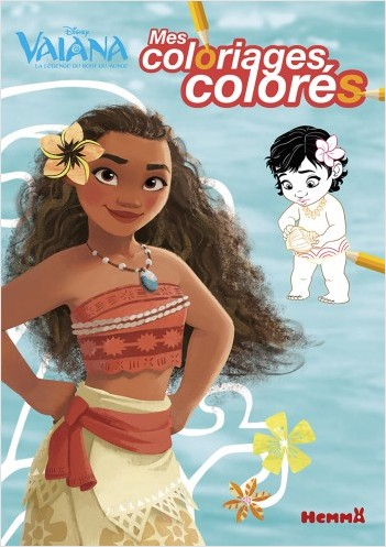 Disney Vaiana - Mes coloriages colorés