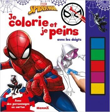 Marvel Spider-Man - Je colorie et je peins avec les doigts