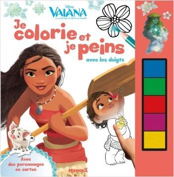 Disney - Vaiana - Je colorie et je peins avec les doigts