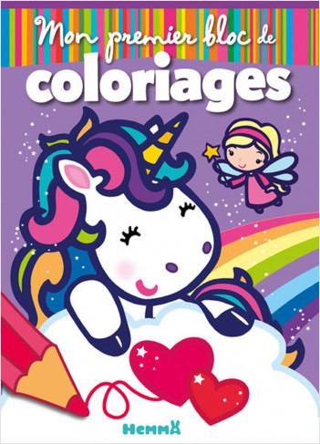 Mon premier bloc de coloriages (Fées et Licornes)