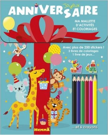 Ma mallette d'activités et coloriages - Joyeux Anniversaire