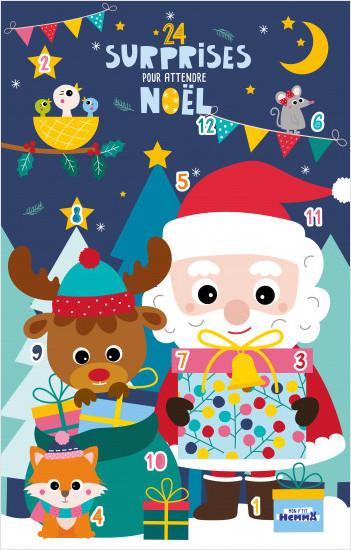 24 surprises pour attendre Noël - Calendrier de l'Avent avec gommettes, coloriages et stickers - dès 3 ans