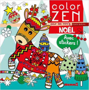 Color Zen pour les Mini'z - Noël - Livre de coloriage détente - dès 4 ans