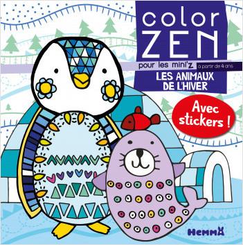 Color Zen pour les Mini'z - Les animaux de l'hiver - Livre de coloriage détente - dès 4 ans