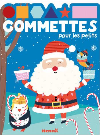 Gommettes pour les petits - Père Noël et pingouin - Livre de gommettes - dès 3 ans