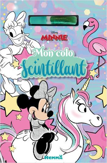 Disney Minnie - Mon colo scintillant - Bloc de coloriage - Dès 4 ans