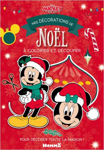 Disney Mickey et ses amis - Mes décorations de Noël à colorier et découper - Bloc de coloriage et découpage - Dès 4 ans