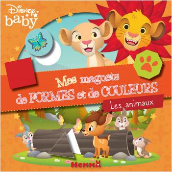 Disney Baby - Mes magnets de formes et de couleurs - Les animaux - Coffret magnets - Dès 3 ans