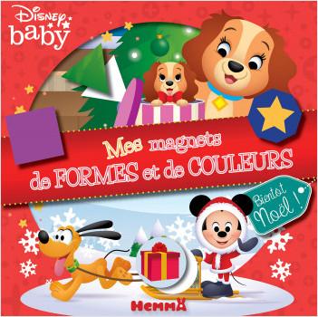 Disney Baby - Mes magnets de formes et de couleurs - Bientôt Noël ! - Coffret magnets - Dès 3 ans