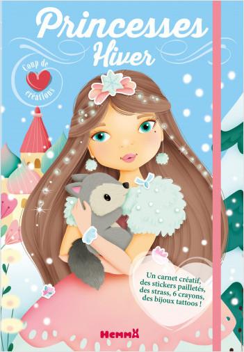 Coup de coeur créations - Princesses hiver - Kit avec stickers et crayons pour habiller les modèles - dès 5 ans