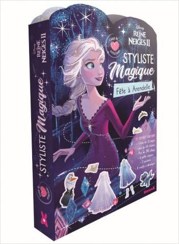 Disney La Reine des Neiges 2 - Styliste magique - Fête à Arendelle - Coup de coeur créations - Kit mode avec coloriage et stickers - Dès 5 ans