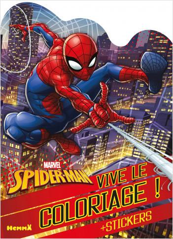 Marvel Spider-Man – Vive le coloriage ! – Livre de coloriage avec stickers – Dès 4 ans
