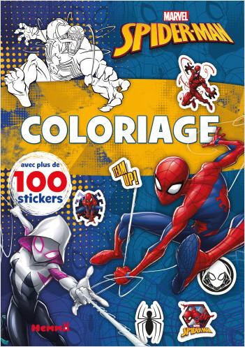 Marvel Spider-Man – Coloriage avec plus de 100 stickers – Livre de coloriage avec stickers – Dès 4 ans