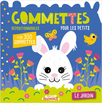 Mon P'tit Hemma - Gommettes pour les petits - Le jardin - Livre de gommettes repositionnables - Dès 3 ans