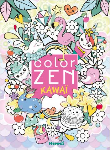 Color Zen - Kawaï - Livre de coloriage détente - Dès 7 ans