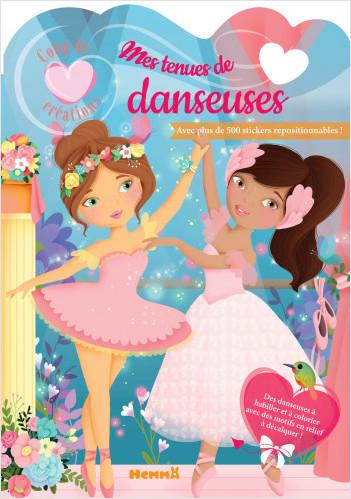 Coup de coeur créations - Mes tenues de danseuses - Modèles à habiller avec stickers - Dès 5 ans