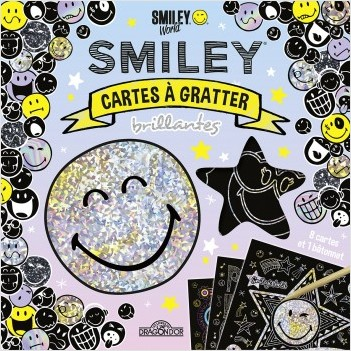 Smiley - Cartes à gratter brillantes