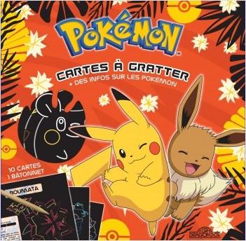 Pokémon - Cartes à gratter + des infos sur les Pokémon (Pikachu et Évoli)