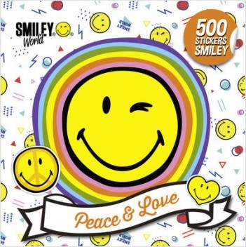 Smiley - Livre d'autocollants - 500 stickers Smiley - Peace & Love - Dès 3 ans