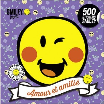 500 stickers Smiley - Amour et amitié