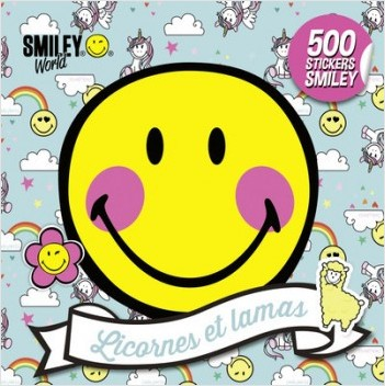 500 stickers Smiley - Licornes et lamas