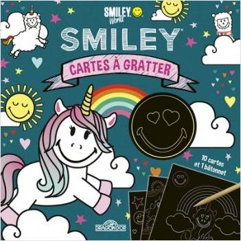 Smiley - Cartes à gratter - Lamas et licornes - Pochette avec 10 cartes à gratter - Dès 6 ans