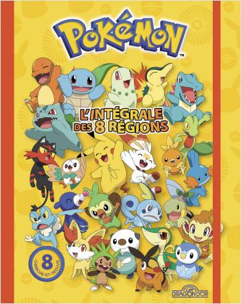 Pokémon – L'Intégrale des huit régions – Livre compilation avec 8 aventures cherche-et-trouve, des informations sur les Pokémon et des jeux d'observation – Dès 6 ans