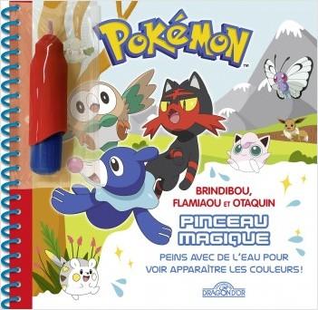 Pokémon - Pinceau magique - Brindibou, Flamiaou et Otaquin - Livre avec pinceau magique – Dès 3 ans