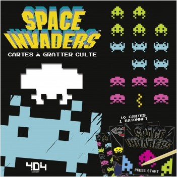Space Invaders - Cartes à gratter culte